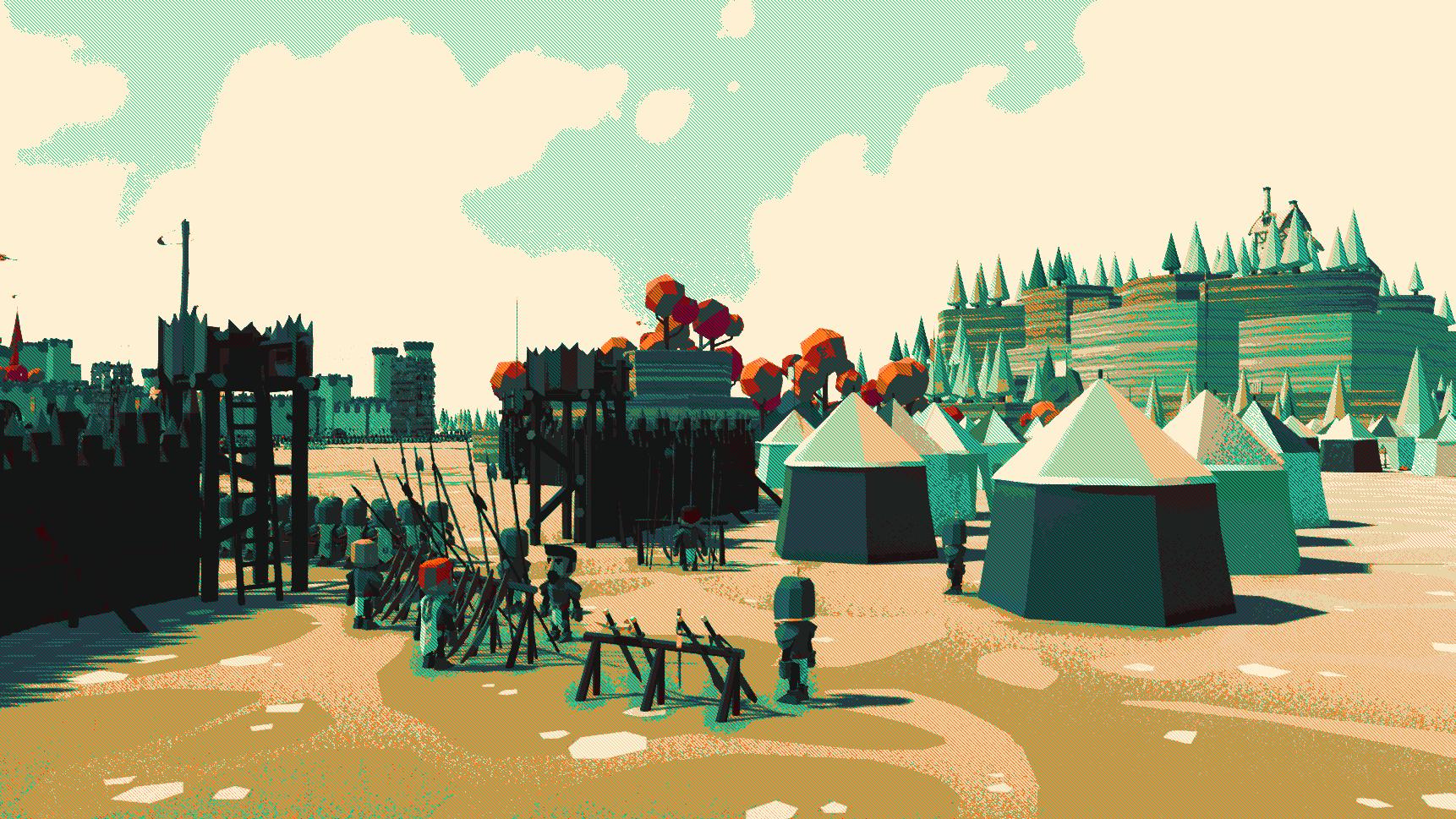 Low poly Medieval scene – Black Spire Studio
